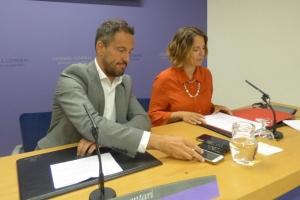 López i Gili, durant la roda de premsa.