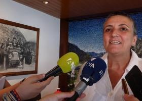 Roda de premsa de Lídia Samarra posterior a la sessió de comú a Andorra la Vella (1-8-2019)